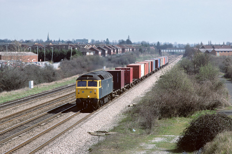 17th Apr 84:  47233 on the down main at Breadcroft Lane.  As with many of these pictures trees now prevent a shot being taken from the angle selected.