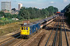 18th Sep 1984:  About to run through South Croydon Station is 73130 on the point of the 10.00 from Victoria to Gatwick