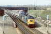 4th Apr 84: 37274 & 37280 trundle through Iver