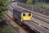 31st May 84:  73140 heads a rake of Motorail flats on the Down Slow at Curzon Bridge
