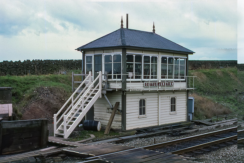 13th Apr 1984:  The Midland Railway signal box at Settle Junction