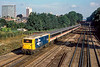 18th Sep 1984: 73133 is pushing the 10.o5 from Gatwick to Victoria away through South Croydon.
