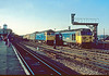 11th Nov 84: 50031 pulls out on the 11.05 from Paignton as 47239 is held on the 'up through'