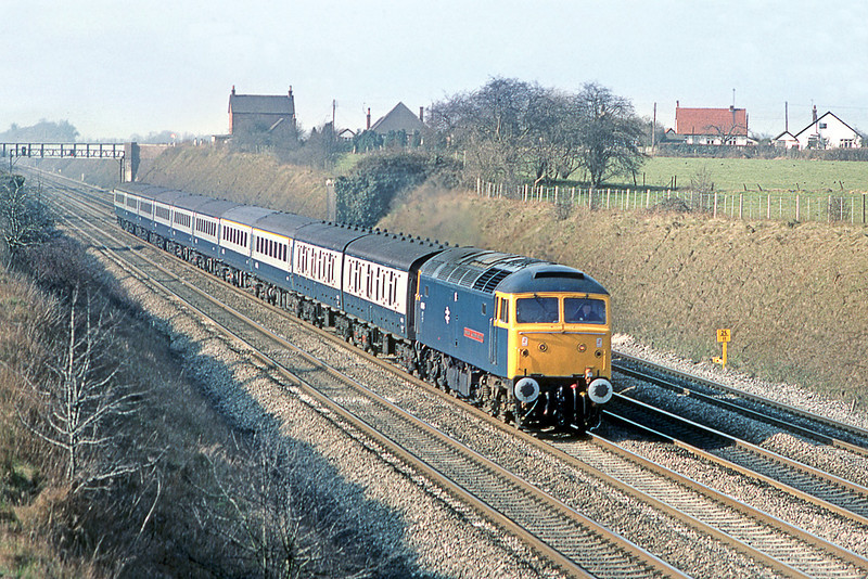 8th Mar 83:  47484 IKB in charge of the 08.02 from Worcester at Breadcroft Ln
