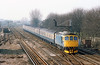 16th Mar 83:  Nearing Wimbledon 33060 works the 08.36 from Salisbury