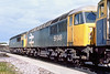 10th Aug 85: 56049 & 56055 on Westbury Stabling point