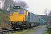 8th Dec 85:  Recently arrived at Ropley from Swindon is 27007