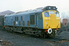 8th Dec 85:  Having arrived from Swindon at the end of November 25067 stands in the yard at Ropley