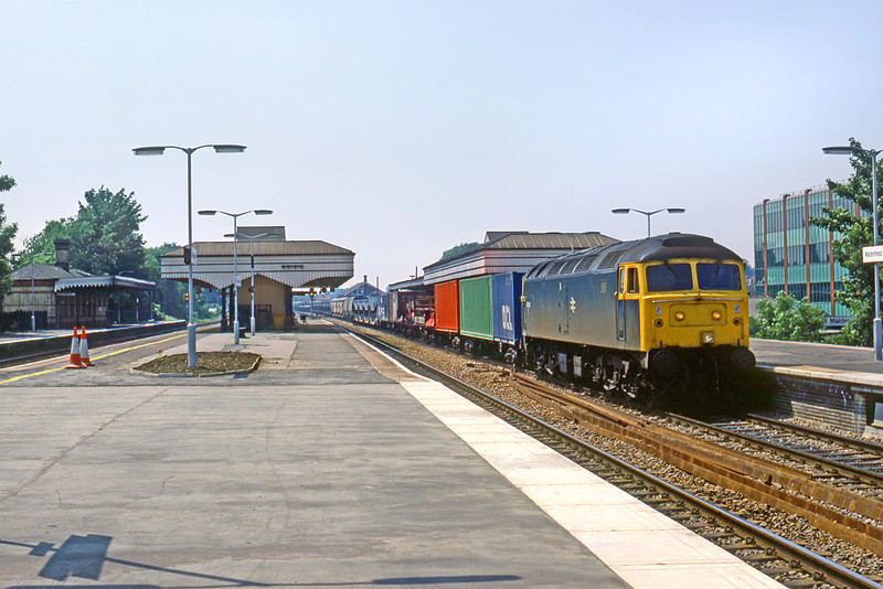 3rd July 85:  47098 charges through Maidenhead with a Speedlink Service