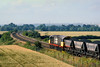 24th July 85:  Heading to Didcot is 58013 with loaded HAA coal hoppers.  The location is Culham