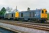 1st Sep 85:  20030 & 20031 stand at Princes Risborough with coal for the cement works at Chinnor