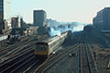 29th Dec 1985:  THe 10.45 to Bicester makes a smokey exit from Marylebone