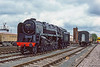 5th May 1985:  At the 'Westbury  Open Day' 92202 'Black Prince' is not in steam but is looking good