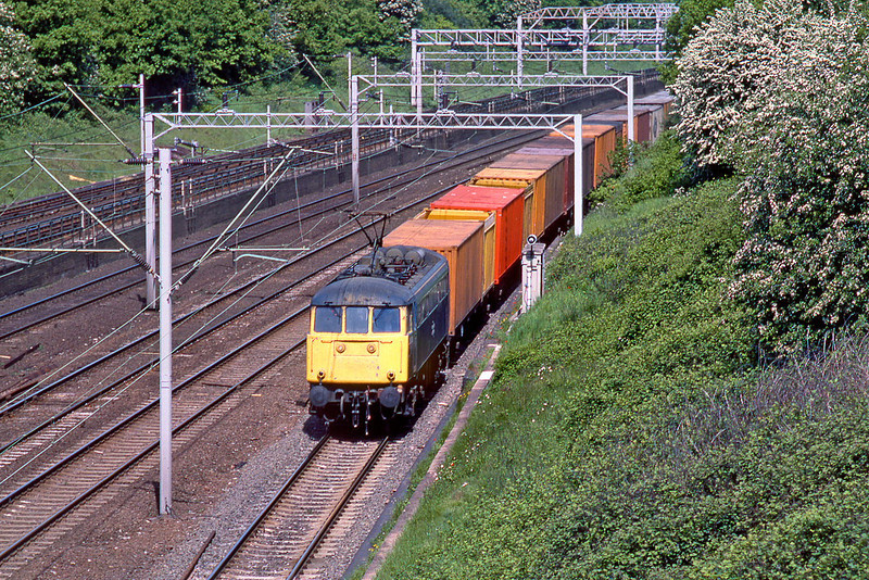 31st May 85:  85038 southbound through Carpenders Park