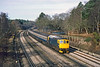 28th Mar 1985:  Taken from Curzon Bridge in Pirbright is 33049 with the 07.15 Salisbury Waterloo
