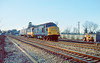 22nd Jan 85:  Cruising up the Main Line through Taplow is 37241 moving HST power car 43024 to Old Oak Common