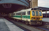 13th Mar 1985;  Metro Train 55506 waits with the 14.07 York to Harrogate.
