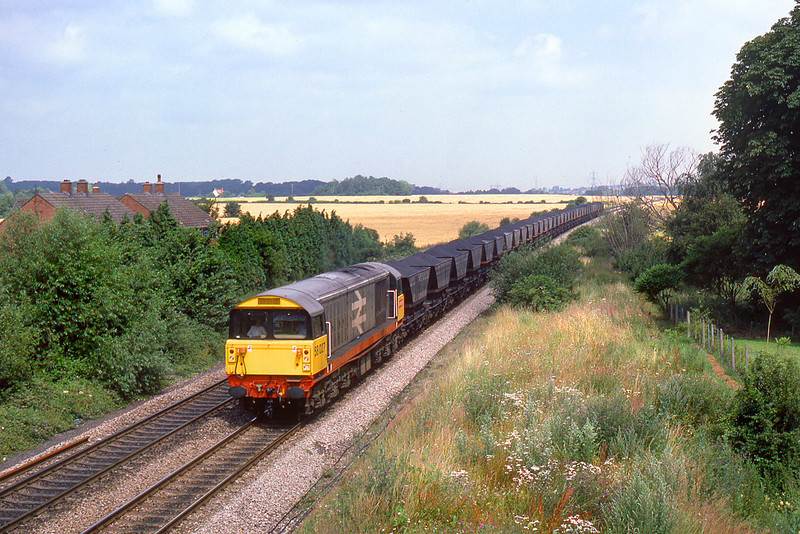 24th July 85:  Approaching Radley is 58027 on a MGR to Didcot
