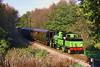 27th Oct 85:  Adams LSWR tank 488 BR No 30583 near Casement bridge on the Bluebell Railway