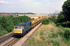 24th July 85:  56045  is captured at Radley with empty hoppers bound for Whatley Quarry in Somerset.