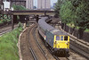 17th Jul 1985:  73125 leaves Clapham Junction making for Gatwick