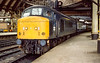 13th Mar 1985:  45101 is in York station as it works the 12.05 from Liverpool  to Scarborough