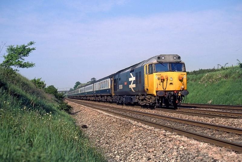 29th May 85:  50024 and Mk 2s at Shottesbrooke . Vanguard left Birmingham New Street at 06.45
