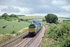 """31st Jul 86:  47513 """"Severn"""" rounds the corner at Crofton and will shortly pass the site of Grafton East Junction."""