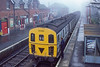 14th Nov 1986:  207005  sits in the platform at Uckfield with a service to London Bridge..  All this is long gone as the new platform is slightly closer to London on the other side of the main road behind me.