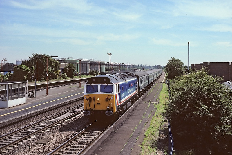 2nd Jul '86:  50017 on the Torbay Express races through Langley
