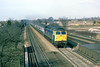 21st Feb 86:  47615 races up the Main Line though Langley