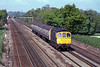 30th May 1985:   33035 is working a Salisbury to Waterloo service between Hook and Winchfield