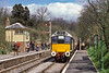 5th May 1986:  Running into Medstead & Four Marks station on the Mid Hants line is D5217 (25067)