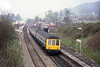 5th May 1986:   Pictured on a misty morning leaving the most un atractive rural station that I have ever seen is L593 running from Reading to Tonbridge.  Dorking Town station was accessed at the back of a rather run down trading estate on the northern edge of the town.  It may have changed but I never went there again.