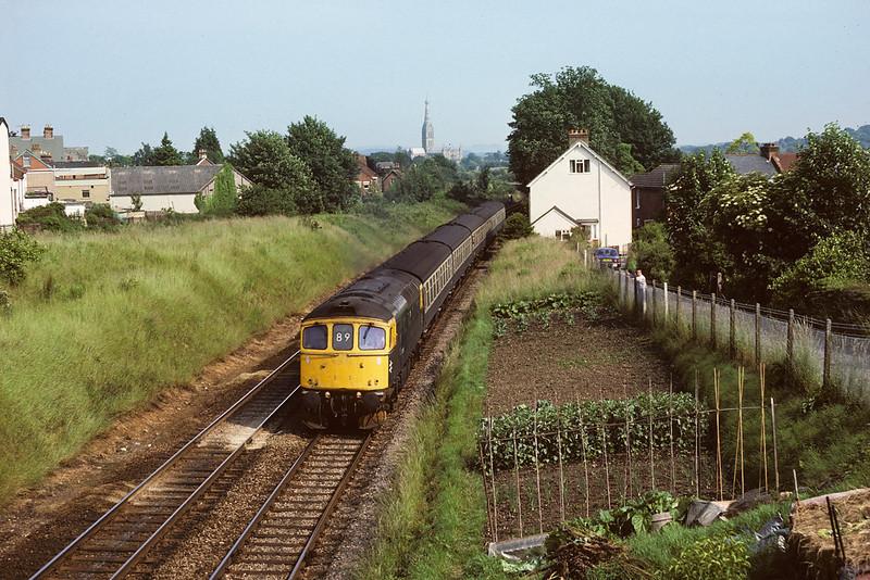 13th Jun 87:  33025 for Cardiff leaves Salisbury