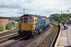 25th Sep 1988:  On the day that the Blackmore Vale Express was running the crowds were beginning to gather as 33114 'Sultan' arrived  with a train from Waterloo.  Regretably the sun became a thing of the past as the day progressed.t