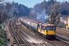 7th Apr 1988:  73134 'Woking Homes' is nearing Woking as it works a Weymouth to Wateloo train