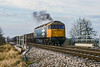 9th Dec 1988:  47341 is crossing Coach Road in Westbury as  it is about to enter the Westbury Cement Works with a coal train.