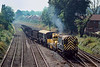 19th Sep 1988:  09004 is working a mixed load over to the Up Yard  from from the Down Yard head shunt.