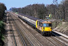 11th Apr 1988: At 10.41  73206 hurries up the main Line through Fleet with a Bournenouth to Waterloo service.At 10.41