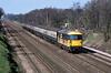 11th ~pr 1988:  73132 heads service  91 from Weymouth to Waterloo through Fleet