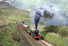 13th May 89:  LNER V2 4771 blasts it's way toward the S & C summit at Ais Gill. A sight and sound that I shall never forget