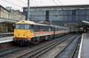 12th May 1989:  86224 'Caledonian' with a northbound express at Carlisle