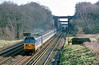 """21st Feb 90:  50002 """"Superb"""" on it's way to Exeter runs on the Down Fast at Totters Lane"""