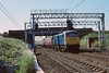 19th Jun 89:  a class 81 passes with maroon stock!