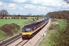 14th Apr '89: Intercity liveried 47555 'Comonwealth Spirit' on and extra at Frouds Lane