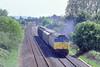 25th May 89:   Near Burnham on Sea 47118 hurries a Speed Link service towards Bristol