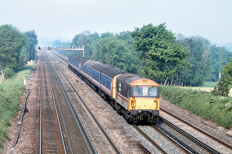 16th May 89:  73104 makes for Waterloo with a Weymouth stopper