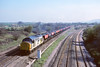30th Mar '90: 37239 arrives at Fairwood Jct with  Didcot to Yeovil domestic coal working