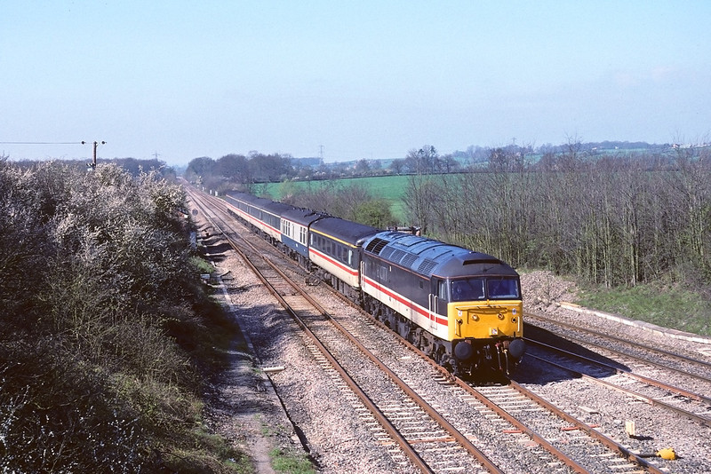 30th Mar '90:   47842 takes the 'New Line' with an up express